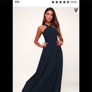 Formal Maxi Dress | Size Large | Navy | NWT